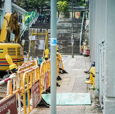 Photograph - Hong Kongers At Work by Sebastien Chort