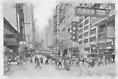 Hongkong Rush Hour Art Print by Steve K