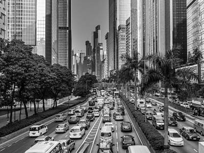 Hongkong Traffic Print by Philipp Weindich