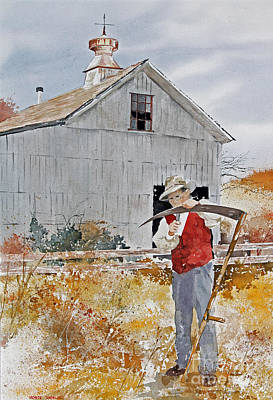 Painting - Honing The Scythe by Monte Toon
