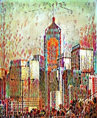 Digital Art - Honk Kong Skyline 11 by Yury Malkov