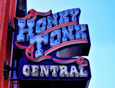 Photograph - Honky Tonk Central - Nashville by Paul Brennan