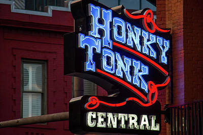 Layla Photograph - Honky Tonk Nashville by Mike Burgquist