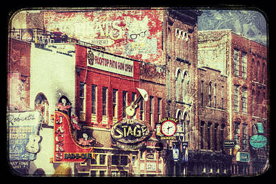 Photograph - Honky Tonk Row - Nashville by Debra Martz