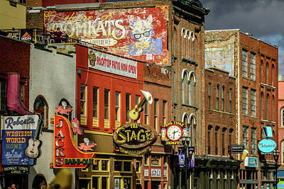 Photograph - Honky Tonk Row - Nashville Tn by Debra Martz