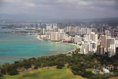 Honolulu At Diamondhead Art Print