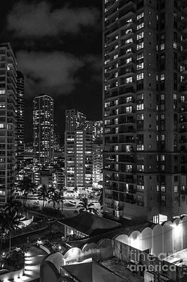 Photograph - Honolulu At Night by Jon Burch Photography