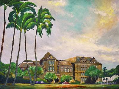 Painting - Honolulu Bishop Museum by Larry Geyrozaga