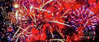 Photograph - Honolulu Fireworks by D Davila
