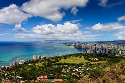 Photograph - Honolulu From Above by Michael Scott