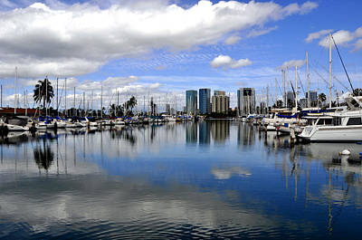Photograph - Honolulu Harbor by Andrew Dinh
