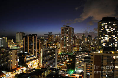 Photograph - Honolulu Nights by Sarah Schroder