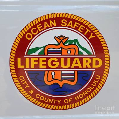 Pop Art - Honolulu Ocean Safety Decal by Mary Deal