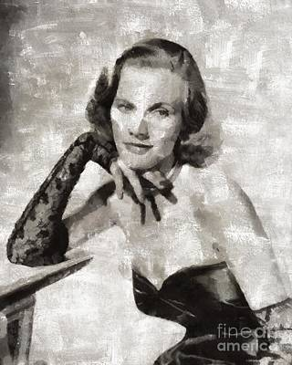 Honor Painting - Honor Blackman, Actress by Mary Bassett