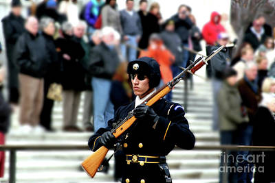 Photograph - Honor Guard At Arlington Cemetery by April Sims