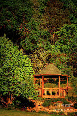 Photograph - Honor Heights Gazebo In Vertical by Tamyra Ayles