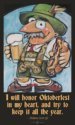 Painting - Honor Oktoberfest Poster by Tim Nyberg