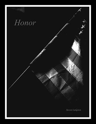 Photograph - Honor by Steven Lebron Langston