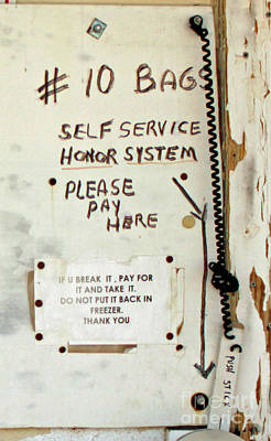 Photograph - Honor System by Joe Jake Pratt