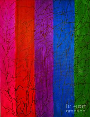 Painting -  Honor The Rainbow by Rachel Hannah