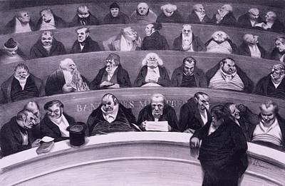 Honore Daumier 1808-1879, Satirical Art Print by Everett