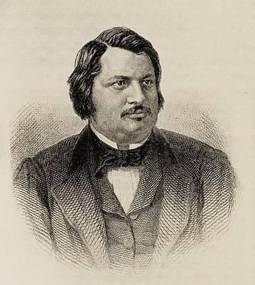Balzac Drawing - Honore De Balzac 1799-1850. French by Vintage Design Pics