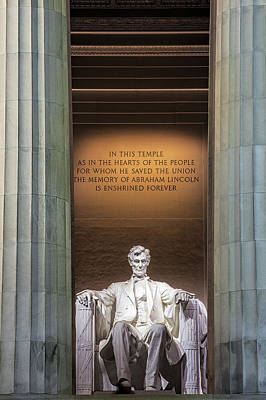 Lincoln Memorial Photograph - Honored For All Time by Andrew Soundarajan