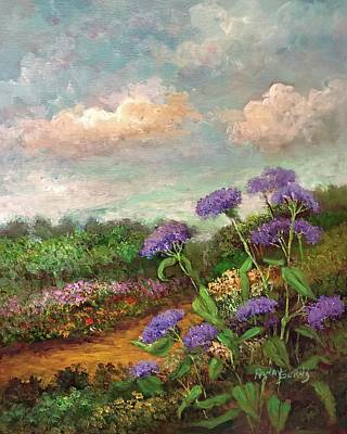 Painting - Honoring The Mist Flower by Randol Burns