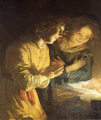 Digital Art - Honthorst Gerrit Van Adoration Of The Child by Gerrit van Honthorst