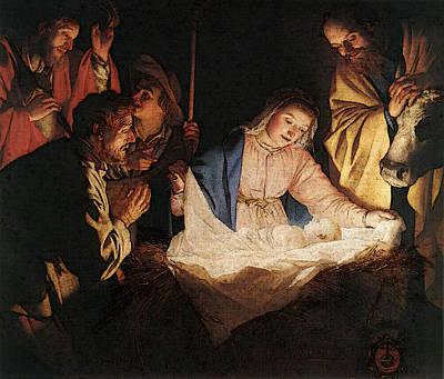 Digital Art - Honthorst Gerrit Van Adoration Of The Shepherds by Gerrit van Honthorst