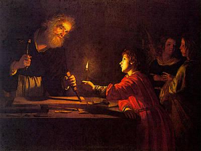 Digital Art - Honthorst Gerrit Van Childhood Of Christ by Gerrit van Honthorst