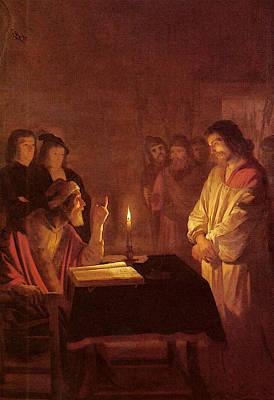 Digital Art - Honthorst Gerrit Van Christ Before The High Priest by Gerrit van Honthorst