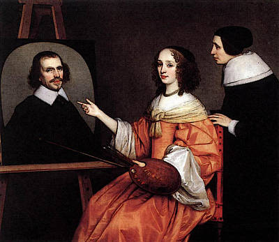 Digital Art - Honthorst Gerrit Van Margareta Maria De Roodere And Her Parents by Gerrit van Honthorst