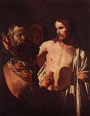 Digital Art - Honthorst Gerrit Van The Incredulity Of St Thomas by Gerrit van Honthorst