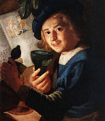 Digital Art - Honthorst Gerrit Van Young Drinker by Gerrit van Honthorst