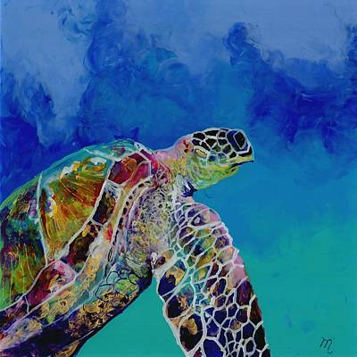 Hawaiian Painting - Honu 7 by Marionette Taboniar