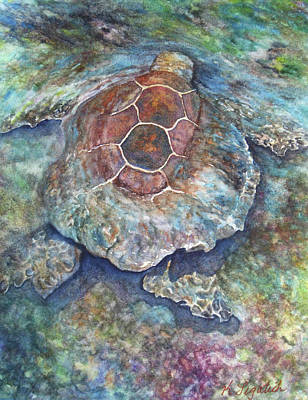 Hawaiian Painting - Honu Ill by Kerri Ligatich