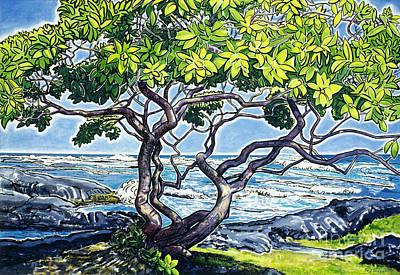 Fay Painting - Honuapo Heliotrope by Fay Biegun - Printscapes