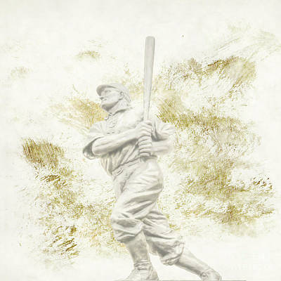 Digital Art - Honus Wagner Statue Pnc Park Pittsburgh by Randy Steele