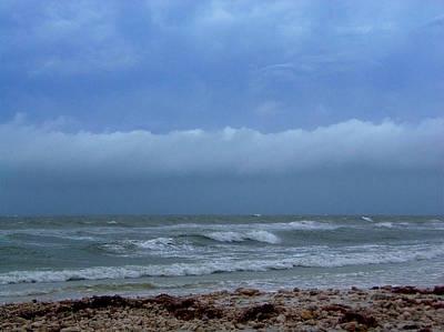 Photograph -  Honyemoon Island Stormy Beach by Chris Mercer