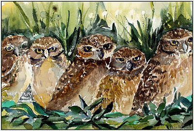 Hoo Is Looking At Me? Original by Mindy Newman