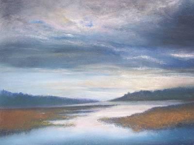 Hood Canal - High Tide Art Print by Jackie Bush-Turner