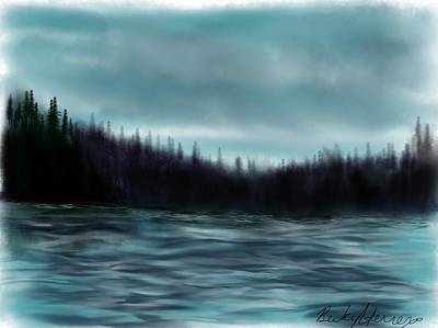 Painting - Hood Canal Puget Sound by Becky Herrera