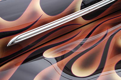 Photograph - Hood Flames by Gene Ritchhart