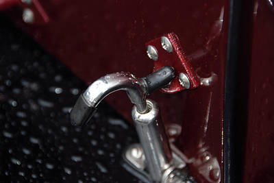 Photograph - Hood Latch Detail by John Schneider