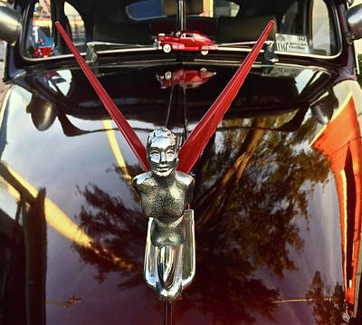 Photograph - Hood Ornament Of A Classic Chevy Fleetline by Denise Mazzocco