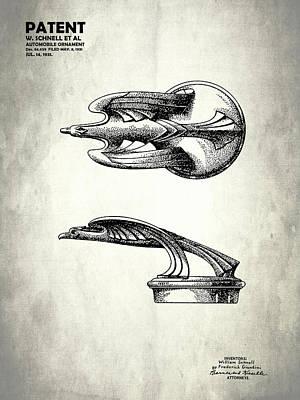 Radiator Cap Photograph - Hood Ornament Patent 1931 by Mark Rogan