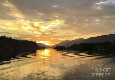 Photograph - Hood River Golden Sunset by Charlene Mitchell