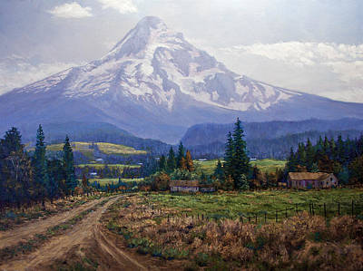 Hood River Valley Art Print by Donald Neff