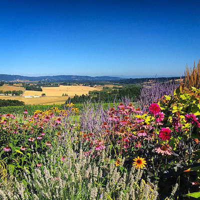 Photograph - Hood River Valley Flowers by Brian Governale